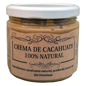 Crema de Cacahuate 100% natural, 300 grs