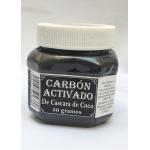 Carbón Activado, ( De cascara de Coco), 50 grs